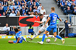 07.10.2018, wirsol Rhein-Neckar-Arena, Sinsheim, GER, 1 FBL, TSG 1899 Hoffenheim vs Eintracht Frankfurt, <br /> <br /> DFL REGULATIONS PROHIBIT ANY USE OF PHOTOGRAPHS AS IMAGE SEQUENCES AND/OR QUASI-VIDEO.<br /> <br /> im Bild: Ante Rebic (Eintracht Frankfurt #4) gegen Stefan Posch (TSG 1899 Hoffenheim #38) im Strafraum<br /> <br /> Foto &copy; nordphoto / Fabisch