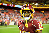 Washington Redskins wide receiver Terry McLaurin (17) leaves the field following the game against the Chicago Bears at FedEx Field in Landover, Maryland on Monday, September 23, 2019.  The Bears won the game 31 - 15.<br /> Credit: Ron Sachs / CNP