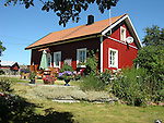 Colorful Homestead on the Island of Kökar, Åland, Finland