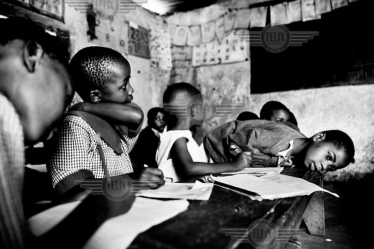 75 orphaned pre-school children attend the Kibera Nursery School and are provided with breakfast and lunch every day, meals they otherwise would not get.