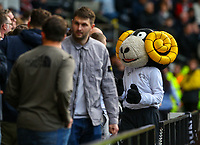 Derby County's mascot Rammie encourages fans during the first half<br /> <br /> Photographer Alex Dodd/CameraSport<br /> <br /> The EFL Sky Bet Championship Play-off  First Leg - Derby County v Leeds United - Thursday 9th May 2019 - Pride Park - Derby<br /> <br /> World Copyright © 2019 CameraSport. All rights reserved. 43 Linden Ave. Countesthorpe. Leicester. England. LE8 5PG - Tel: +44 (0) 116 277 4147 - admin@camerasport.com - www.camerasport.com