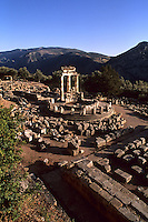 Quiet place of refuse at the Temple of Apollo 4th Century in Delphi Greece