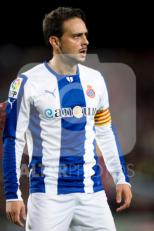 RCD Espanyol's Sergio Garcia is seen during La Liga 2013-2014 match against FC Barcelona. November 1, 2013. (ALTERPHOTOS/Alex Caparros)