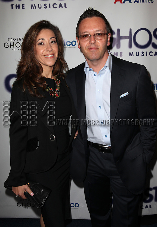 John Edward & Guest.attending the Broadway Opening Night Performance of 'GHOST' a the Lunt-Fontanne Theater on 4/23/2012 in New York City. © Walter McBride/WM Photography .
