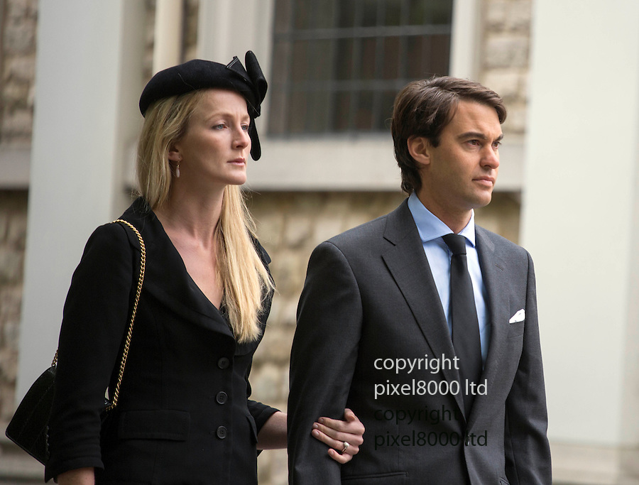 Pic shows:  William and Rosie  van Cutsem arrive<br /> <br /> <br />  Prince Charles and Camilla arrives to bid  farewell to his dear friend and trusted confidant Hugh van Cutsem with Prince William and Prince Harry by his side.<br /> <br /> <br /> <br /> Charles and his two sons were among the mourners gathered at Brentwood Cathedral in Essex on 11th September, to honour the life of the late conservationist.<br /> <br /> <br /> <br /> <br /> Pic by Gavin Rodgers/Pixel 8000 Ltd