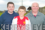 6894-6901.FOOTBALL FAMILY: Tommy, Cian and Frank Sheridan three generations of football supporters at Cahermooeen on Sunday....