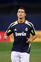 Cristiano Ronaldo (7) of Real Madrid during warmups prior to playing A. C. Milan. Real Madrid defeated A. C. Milan 5-1 during a 2012 Herbalife World Football Challenge match at Yankee Stadium in New York, NY, on August 8, 2012.