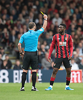 Bournemouth's Jefferson Lerma (right) is shown a yellow card by  Stuart Attwell<br /> <br /> Photographer David Horton/CameraSport<br /> <br /> The Premier League - Bournemouth v West Ham United - Saturday 28th September 2019 - Vitality Stadium - Bournemouth<br /> <br /> World Copyright © 2019 CameraSport. All rights reserved. 43 Linden Ave. Countesthorpe. Leicester. England. LE8 5PG - Tel: +44 (0) 116 277 4147 - admin@camerasport.com - www.camerasport.com