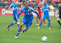 20 October 2012: Montreal Impact defender Matteo Ferrari #13 in action during an MLS game between the Montreal Impact and Toronto FC at BMO Field in Toronto, Ontario..The game ended in a 0-0 draw..