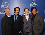 John Deluca, Lin-Manuel Miranda, Emily Blunt and Rob Marshall attends a screening of 'Mary Poppins Returns' hosted by The Cinema Society at SVA Theater on December 17, 2018 in New York City.