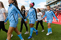 Bridgeview, IL - Sunday June 25, 2017: Samantha Johnson during a regular season National Women's Soccer League (NWSL) match between the Chicago Red Stars and Sky Blue FC at Toyota Park. The Red Stars won 2-1.
