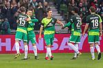 10.02.2019, Weser Stadion, Bremen, GER, 1.FBL, Werder Bremen vs FC Augsburg, <br /> <br /> DFL REGULATIONS PROHIBIT ANY USE OF PHOTOGRAPHS AS IMAGE SEQUENCES AND/OR QUASI-VIDEO.<br /> <br />  im Bild<br /> <br /> 1:0 Milot Rashica (Werder Bremen #11) <br /> Max Kruse (Werder Bremen #10)<br /> Ludwig Augustinsson (Werder Bremen #05)<br /> Sebastian Langkamp (Werder Bremen #15)<br /> Theodor Gebre Selassie (Werder Bremen #23)<br /> Niklas Moisander (Werder Bremen #18)<br /> Davy Klaassen (Werder Bremen #30)<br /> <br /> <br /> <br /> jubel <br /> Foto © nordphoto / Kokenge