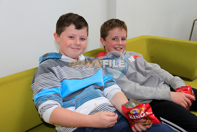 Tyler Harper and Oran Connor<br /> at the opening of the Boomarang club.<br /> Picture Fran Caffrey www.newsfile.ie