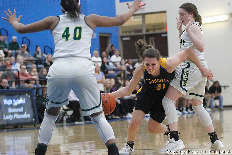 Boswell plays Birdville in 5A girls area round basketball playoff at Byron Nelson High School in Trophy Club on Friday, February 17, 2017.