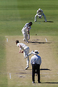 November 5th 2017, WACA Ground, Perth Australia; International cricket tour, Western Australia versus England, day 2; Western Warriors Clint Hinchcliffe plays a shot bowled by England player Stuart Broad