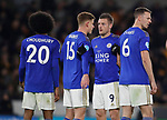 Jamie Vardy of Leicester City lines up a defensive wall during the Premier League match at Molineux, Wolverhampton. Picture date: 14th February 2020. Picture credit should read: Darren Staples/Sportimage