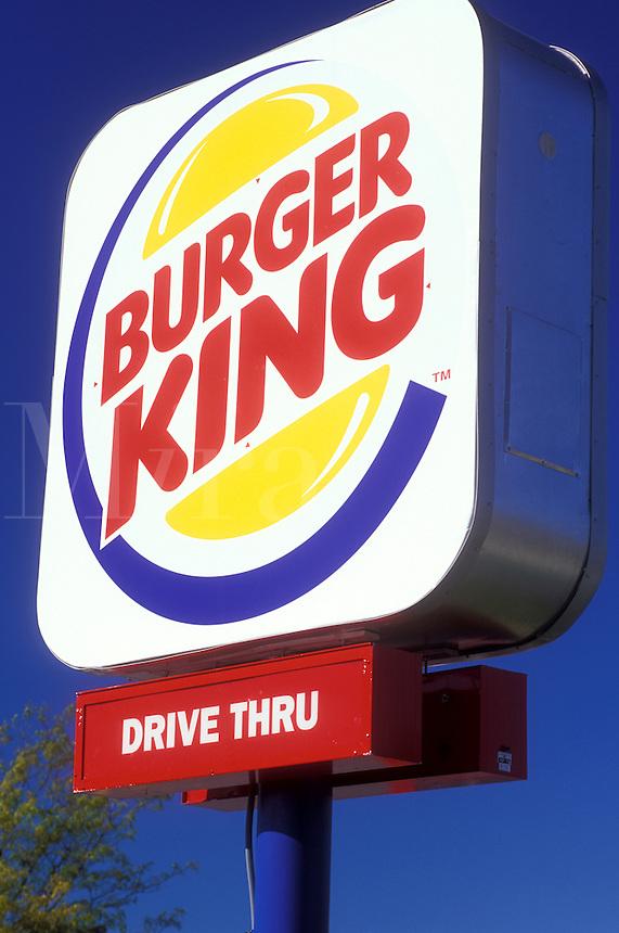 fast food, Burger King sign, Vermont, VT, Burlington