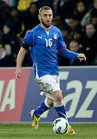GENEBRA, SUICA, 21 DE MARCO DE 2013 -Daniele De Rossi jogador da Italia durante partida amistosa contra o Brasil, disputada em Genebra, na Suíça, nesta quinta-feira, 21. O jogo terminou 2 a 2. FOTO: PIXATHLON / BRAZIL PHOTO PRESS