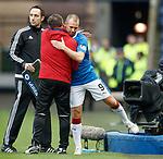 Kenny Miller embraces Graeme Murty