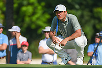 Francesco Molinari (ITA) looks over his long birdie putt on 2 during round 3 of the 2019 Charles Schwab Challenge, Colonial Country Club, Ft. Worth, Texas,  USA. 5/25/2019.<br /> Picture: Golffile | Ken Murray<br /> <br /> All photo usage must carry mandatory copyright credit (© Golffile | Ken Murray)
