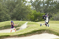 SAN ANTONIO, TX - OCTOBER 27, 2014: The Texas Christian University Horned Frogs Women's Golf Team competes in the Alamo Invitational Golf Tournament at the Briggs Ranch Golf Club. (Photo by Jeff Huehn)