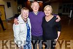 Mary and Con Egan (Tournafulla) and Kay Gertite (Knocknagoshel) at the 60th Celebration Céilí for Comhaltas Ceoltóirí Éireann in the Duchas Comhaltas Centre, IT Tralee on Sunday.
