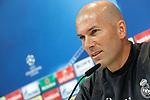 Real Madrid's coach Zinedine Zidane in press conference after training session. May 9,2017.(ALTERPHOTOS/Acero)
