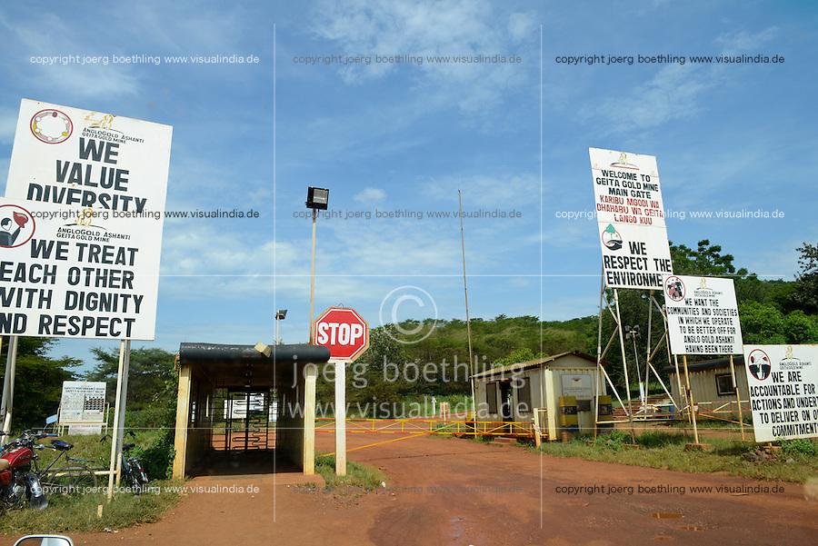 TANZANIA Geita Gold Mine, open-cast gold mine of company AngloGold Ashanti / TANSANIA Geita Goldmine der Firma AngloGold Ashanti