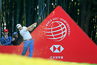 Russell Knox (SCO) on the 17th tee during the 3rd round at the WGC HSBC Champions 2018, Sheshan Golf CLub, Shanghai, China. 27/10/2018.<br /> Picture Fran Caffrey / Golffile.ie<br /> <br /> All photo usage must carry mandatory copyright credit (&copy; Golffile | Fran Caffrey)