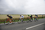 The breakaway group Yoann Offredo (FRA) Wanty-Groupe Gobert, Thomas Boudat (FRA) Direct Energie, Taylor Phinney (USA) Cannondale Drapac and Laurent Pichon (FRA) Fortuneo-Oscaro in action during Stage 2 of the 104th edition of the Tour de France 2017, running 203.5km from Dusseldorf, Germany to Liege, Belgium. 2nd July 2017.<br /> Picture: ASO/Pauline Ballet | Cyclefile<br /> <br /> <br /> All photos usage must carry mandatory copyright credit (&copy; Cyclefile | ASO/Pauline Ballet)
