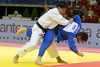 Alan Khubetsov (R) of Russia and Kenya Kohara (L) of Japan fight during the Men -81 kg category at the Judo Grand Prix Budapest 2018 international judo tournament held in Budapest, Hungary on Aug. 11, 2018. ATTILA VOLGYI