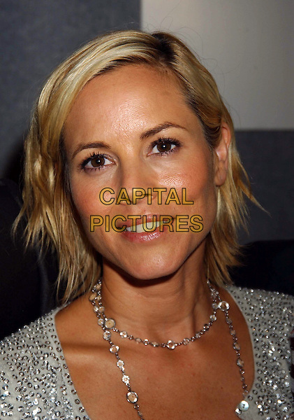 """MARIA BELLO.""""A History of Violence"""". .Press conferences held at Sutton Place for the 2005 Toronto Film Festival, Toronto, Canada..September 10th, 2005.Photo Credit: Laura Farr/Admedia.headshot portrait necklace.www.capitalpictures.com.sales@capitalpictures.com.© Capital Pictures."""