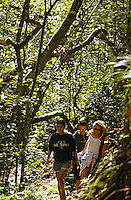 Couple hiking with friends