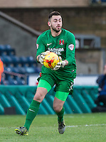 Goalkeeper Alex Cisak of Leyton Orient during the Sky Bet League 2 match between Wycombe Wanderers and Leyton Orient at Adams Park, High Wycombe, England on 23 January 2016. Photo by Andy Rowland / PRiME Media Images.
