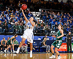SIOUX FALLS, SD - NOVEMBER 29: Lindsey Theuninck #3 from South Dakota State lays the ball up past Laken James #5 from Wisconsin Green Bay during their game Thursday night at Frost Arena in Brookings. (Photo by Dave Eggen/Inertia)