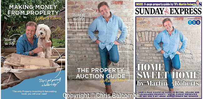 Images of TV house-buying expert Martin Roberts, used, so far, on two book covers and the Sunday Express special pull-out section.<br /> <br /> <br /> Pic: Chris Balcombe<br /> <br /> 07568 098176<br /> Office: 023 80 849187