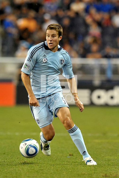 Matt Besler (5) defender Sporting KC in action... Sporting Kansas City defeated Columbus Crew 2-1 at LIVESTRONG Sporting Park, Kansas City, Kansas.