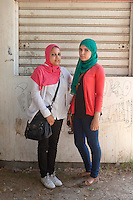 Young students in Ain Shams University, Cairo. Egypt, October 2012.