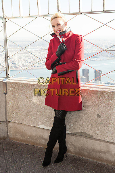 NEW YORK, NY - NOVEMBER 25: Actress Nicollette Sheridan at The Empire State Building on November 25, 2013 in New York City.<br /> CAP/MPI/COR<br /> &copy;Corredor99/ MediaPunch/Capital Pictures