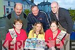 Margaret Curtin, Priscilla Fay, Maura O'connor. Back row: Edmond Doran, Kieran Flanagan and Denis Curtin with the DVD of the 2010 Con Curtin music festival in Brosna on Wednesday
