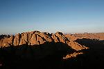 Ascension du Mont Moïse dans la lumière magique du coucher de soleil.