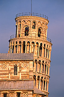 The DUOMO (Cathedral) & The LEANING TOWER OF PISA (12th Cent.) inside The CAMPO DEI MIRACOLI - PISA, ITALY