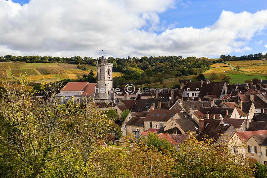 France, Yonne(89), Irancy, le village en automne // France, Yonne, Irancy and the vineyard fall