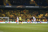 General view of Henrikh Mkhitaryan of Borussia Dortmund  on the ball during the UEFA Europa League match between Tottenham Hotspur and Borussia Dortmund at White Hart Lane, London, England on 17 March 2016. Photo by David Horn / PRiME Media Images