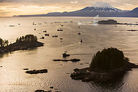 2006 Herring Sac Roe commercial fishing fleet during the second opener in Sitka Sound.