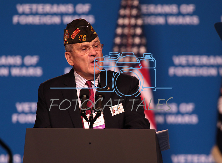 Richard De Noyer speaks at the 113th National Convention of the Veterans of Foreign Wars in Reno, Nev., on Monday, July 23, 2012..Photo by Cathleen Allison