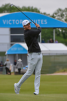 Lucas Bjerregaard (DEN) watches his approach shot on 1 during round 2 of the AT&T Byron Nelson, Trinity Forest Golf Club, Dallas, Texas, USA. 5/10/2019.<br /> Picture: Golffile | Ken Murray<br /> <br /> <br /> All photo usage must carry mandatory copyright credit (© Golffile | Ken Murray)
