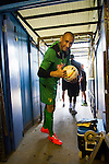 St Albans 0 Watford 5, 26/07/2014. Clarence Park, Pre Season Friendly. Pre Season friendly between St Albans City and Watford from Clarence Park Stadium. Heurelho Gomes gives the thumbs up.Watford won the game 5-0. Photo by Simon Gill.