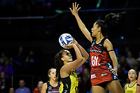 Tactix&rsquo; Temalisi Fakahokotau in action during the ANZ Premiership - Pulse v Tactix at TSB Arena, Wellington, New Zealand on Monday 14 May 2018.<br /> Photo by Masanori Udagawa. <br /> www.photowellington.photoshelter.com