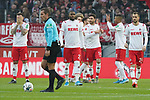 30.11.2019, RheinEnergieStadion, Koeln, GER, 1. FBL, 1.FC Koeln vs. FC Augsburg,<br />  <br /> DFL regulations prohibit any use of photographs as image sequences and/or quasi-video<br /> <br /> im Bild / picture shows: <br /> abklatschen vor dem Spiel die Koelner<br /> <br /> Foto © nordphoto / Meuter